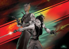 Doctor Who : Vastra and Jenny by abc142