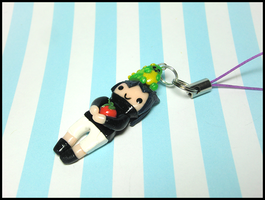 Kid Sasuke + Roary and Tomato Phone Charm by GrandmaThunderpants