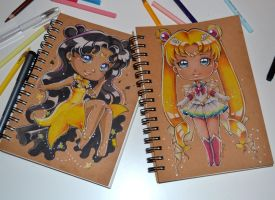 Sailor Moon Sketchbooks by Lighane