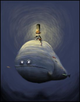 The man on the moonfish by inexistenz