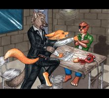 The Interrogation Room by CrescentMoon