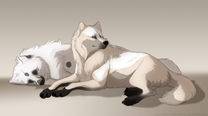 Sleepy Floofs by TahkiBK