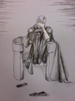 Darth Vader Curled up by great-queen-morrigan