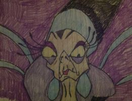 Yzma drawing by me by NinjaTurtleFangirl