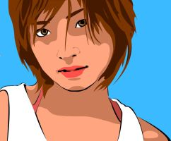 Vector Portrait of Aya Ueto by maddaluther
