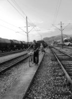 On the rails. by ChewingChaoS