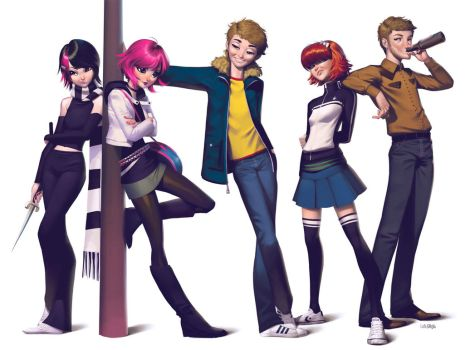 Scott Pilgrim vs The World by lenadrofranci