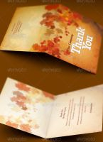 Fall and Harvest Thank You Card Template by loswl