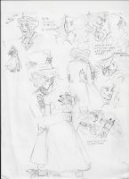 Alice in Wonderland Sketches 2 by PieMakesMeHappy123