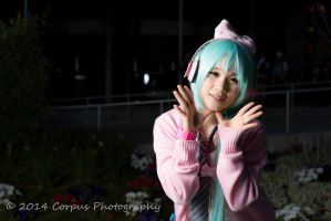 Ribbon Girl Miku - Vocaloid by angelaalee