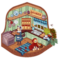 Vignette: Red's Kitchen by illogoi