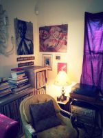 Record listening nook by heatherdrefke