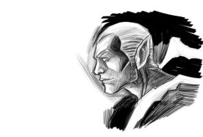 Make side profile different by drawing elf ears by Dreee