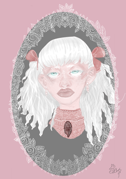 Cute albino lady of the 19th century cause why not by greekegirl