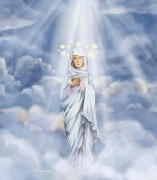 The Ascension of the Blessed Virgin by CeciliaSal