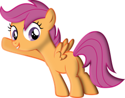 Scootaloo Pointing at something by Yetioner