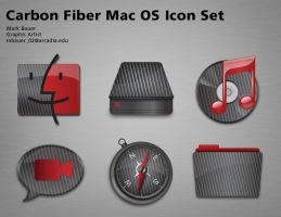 Carbon Fiber Mac OS Icon Set by MarkBauer
