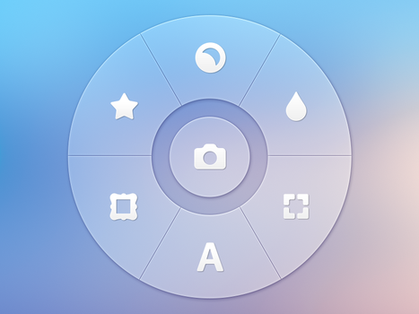 Photo App - Radial Controller by Ramotion
