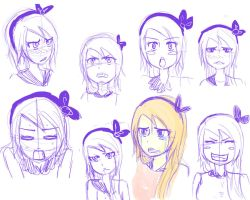 Fairy Tail OC: Expression Sketch by kazumimomoi