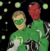 Shatner as Green Lantern, aka Spock's Moustache by Nick-Perks