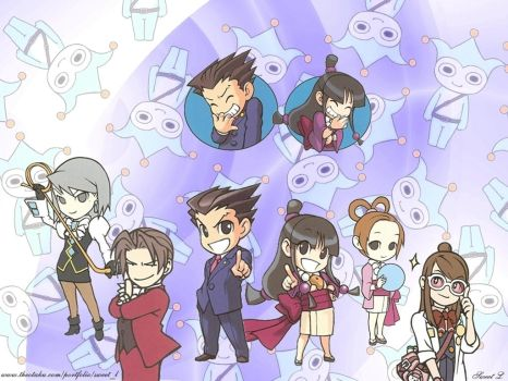 Ace Attorney Chibi by SweetL