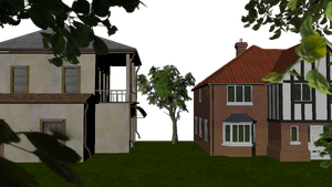 Houses in Maya by animaniatic