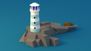 Lighthouse Low Poly by oSVAMPo