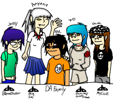 My DA Family YES by FoxTail8000