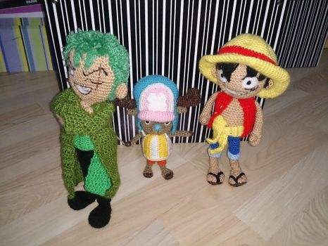 Zoro, Chopper y Luffy by SSelphieSS