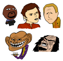 Deep Space 9 Rage Faces by jagged-snail