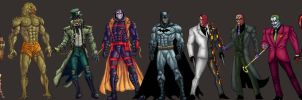Batman and Rogues Gallery by dushans