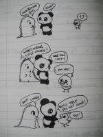 Dino and Panda-Lost Chickie by MelodicInterval