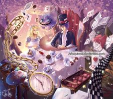 Alice in Wonderland by Arlequinne