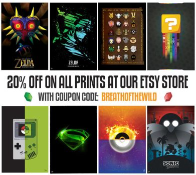 20% OFF all prints at our Etsy Store by DarkoDesign