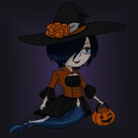 Madame Shyarly Halloween 2014 chibi by Kireikage