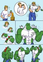 Yoshi TF comic :color: by CaseyLJones