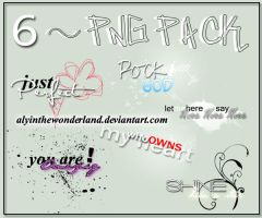 6 png textos pack by me by alyinthewonderland