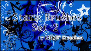 GIMP Stars Set 2 by Illyera