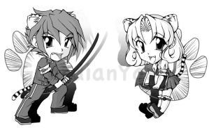 ToraCon Chibis by GuardianYashu