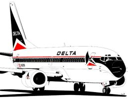 Delta Boeing 737 by bowdenja