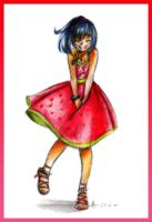 .: Strawberry Dress :. by xSkyeCrystalx