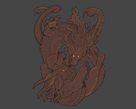 Monster Fight shirt by missmonster