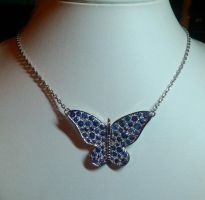 saphirs butterfly pendant 2 by Debals