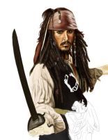 Wip2 Jack Sparrow by cpss