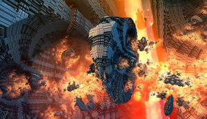 spacestation explosion - Mandelbulb3D with Paras by matze2001