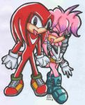 Knux and Julie in copics by nights-kitty