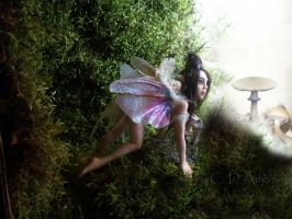 Young fairy and baby OLD by cdlitestudio