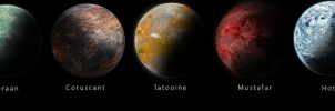 Realistic Star Wars Planets by tschreurs