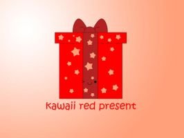 kawaii red present by to-much-a-thing