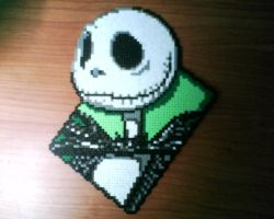 jack skellington hama beads by Gandull